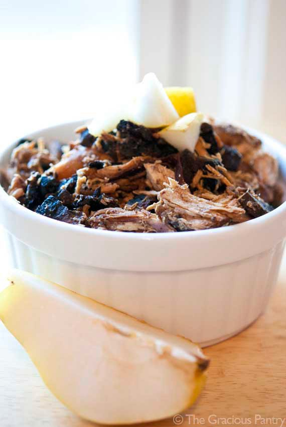 Clean Eating Balsamic Pear And Portobello Mushroom Slow Cooker Chicken