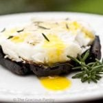 Clean Eating Baked Eggs On Balsamic Portobello Mushrooms
