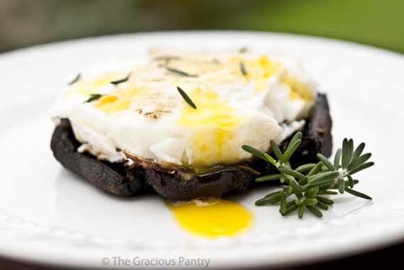 Baked Eggs On Balsamic Portobello Mushrooms