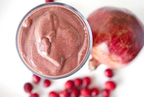 Clean Eating Chocolate Cranberry Smoothie Recipe