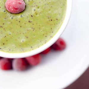 Clean Eating Fresh Cranberry Green Smoothie
