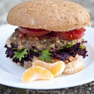 Clean Eating Asian Style Portobello Mushroom Turkey Burgers