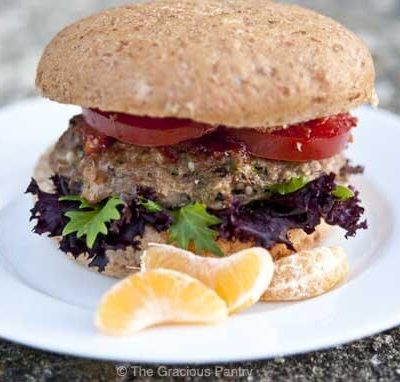 Clean Eating Asian Style Portobello Mushroom Turkey Burgers Recipe