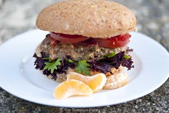 Clean Eating Asian Style Portobello Mushroom Turkey Burgers Recipe