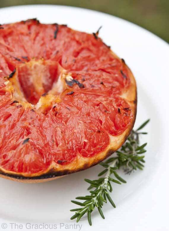 Clean Eating Broiled Honey Grapefruit
