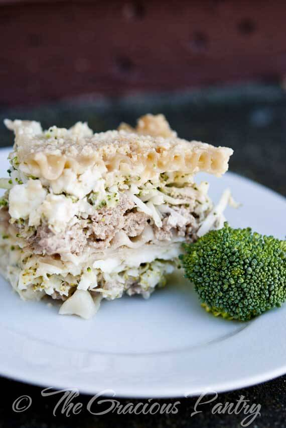 Clean Eating Turkey & Broccoli White Lasagna