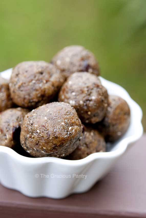 Clean Eating Spiced Almond Butter Balls