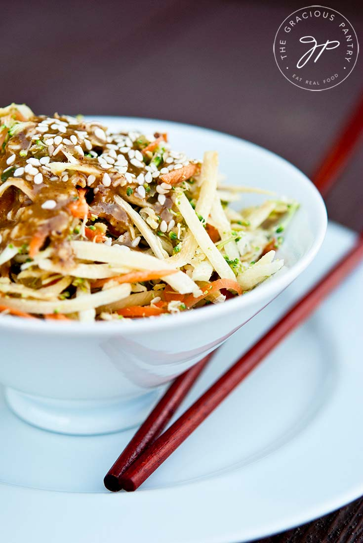 Clean Eating Raw Asian Broccoli Salad Recipe