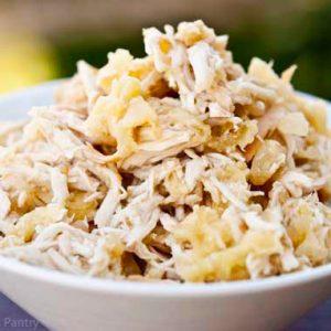 Clean Eating Slow Cooker Pineapple Chicken Verde Recipe
