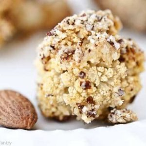 Clean Eating Almond Crusted Roasted Cauliflower