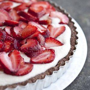 Clean Eating Grain Free Cashew Strawberry Torte