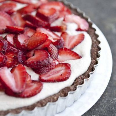 Clean Eating Grain Free Cashew Strawberry Tart Recipe