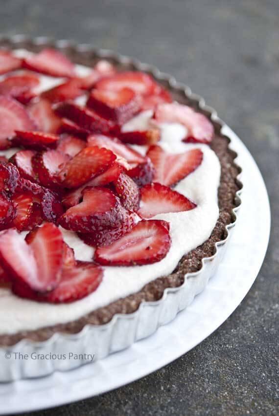 Grain Free Cashew Strawberry Tart Recipe