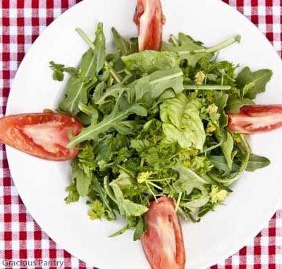 Clean Eating Mesclun Salad