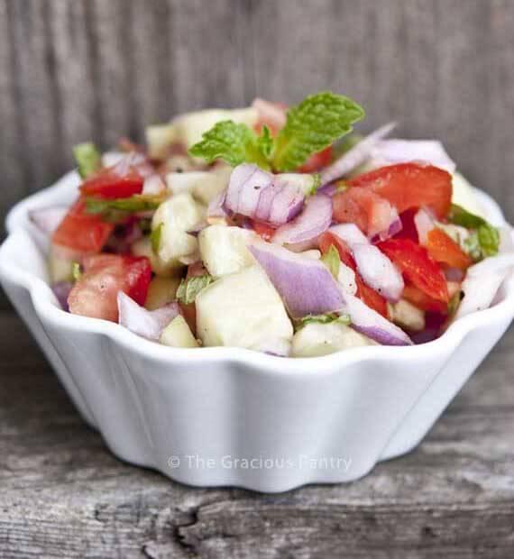 Clean Eating Shirazi Salad