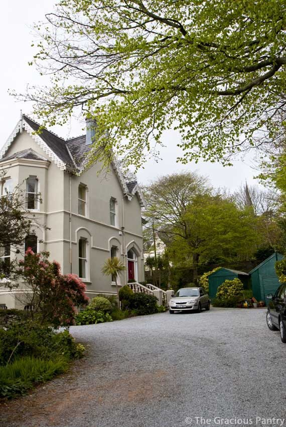 A photo of the old victorian house in Cobh, Ireland where we rented the downstairs for a week during our trip.