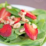 Clean Eating Strawberry Spinach Salad Recipe