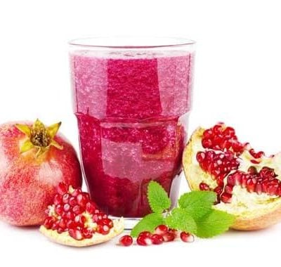 Clean Eating Peanut Butter Pomegranate Smoothie