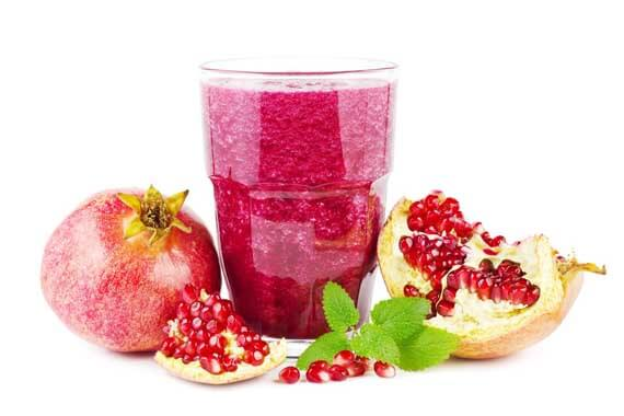 Peanut Butter Pomegranate Smoothie