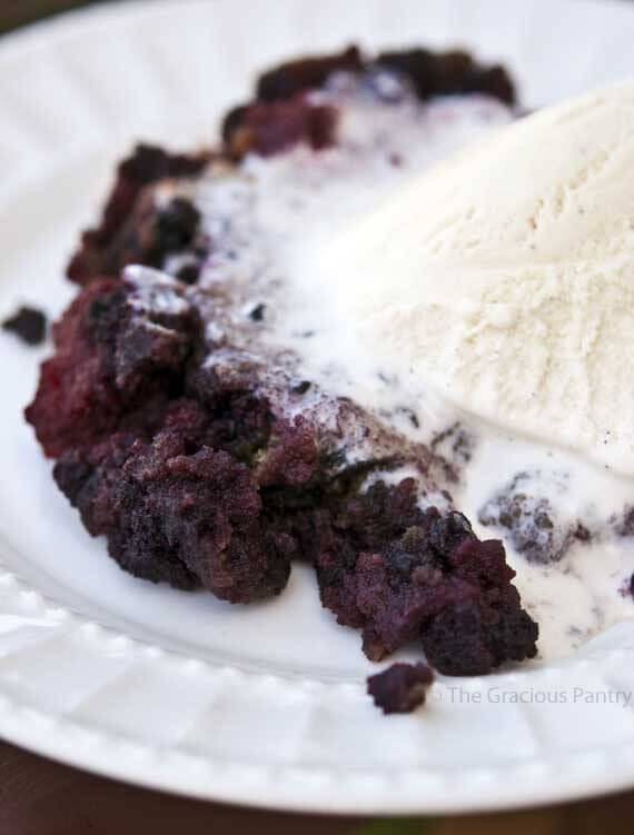 Clean Eating Slow Cooker Berry Cobbler