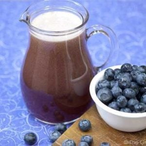 Clean Eating Blueberry Lime Agua Fresca