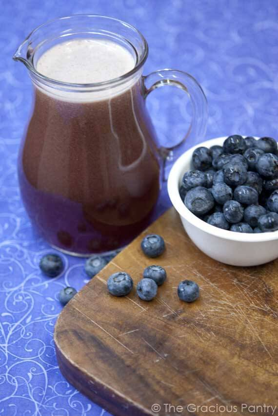 Clean Eating Blueberry Agua Fresca