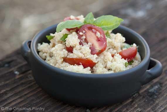 Clean Eating Garlic Parmesan Quinoa Recipe