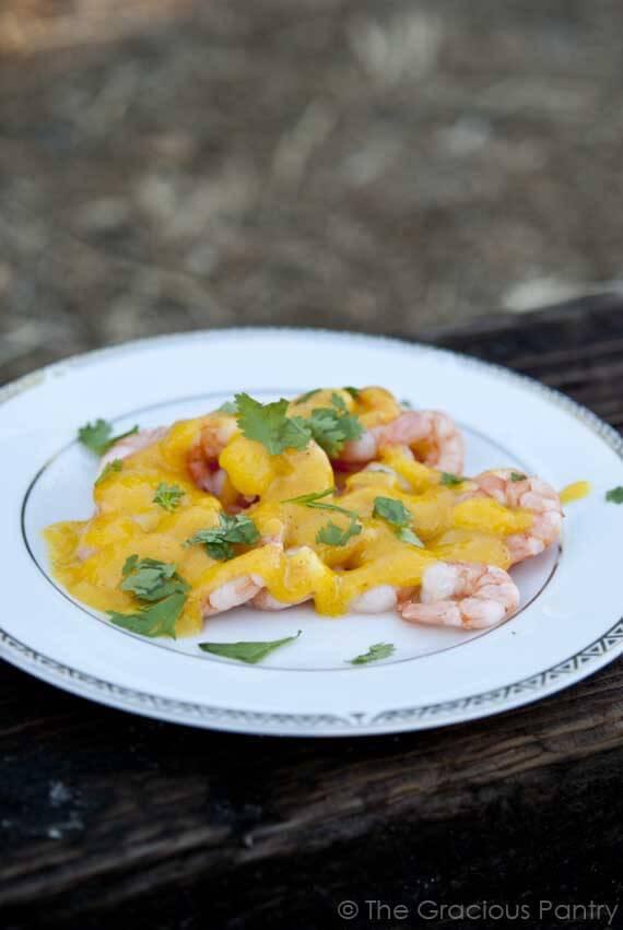 Clean Eating Sautéed Shrimp With Mango Lime Sauce
