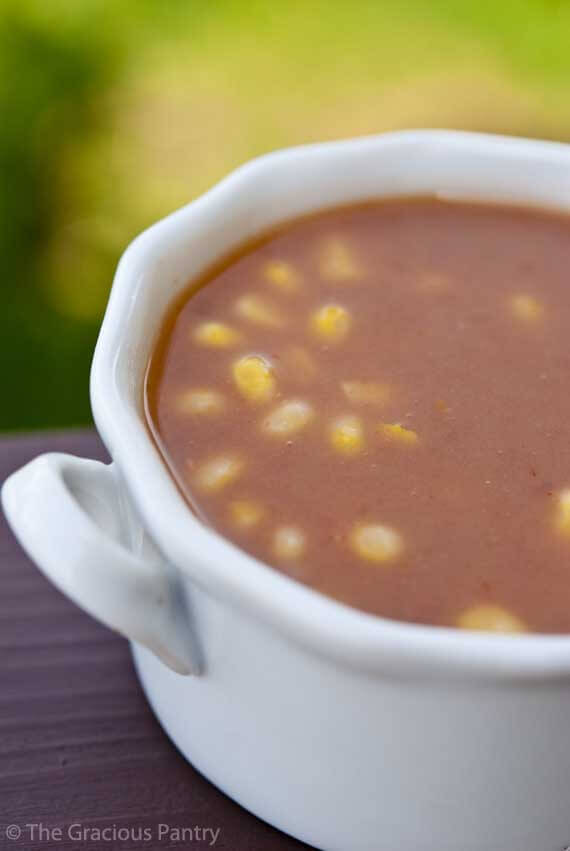 Clean Eating Mexican Refried Bean Soup