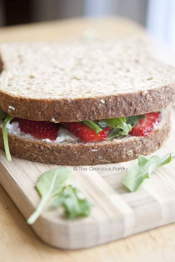 Clean Eating Iron-Grilled Goat Cheese and Strawberry Sandwich
