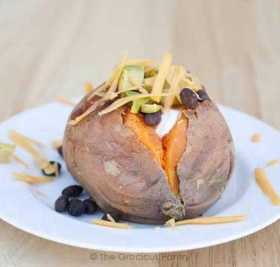 Clean Eating Stuffed Mexican Sweet Potato