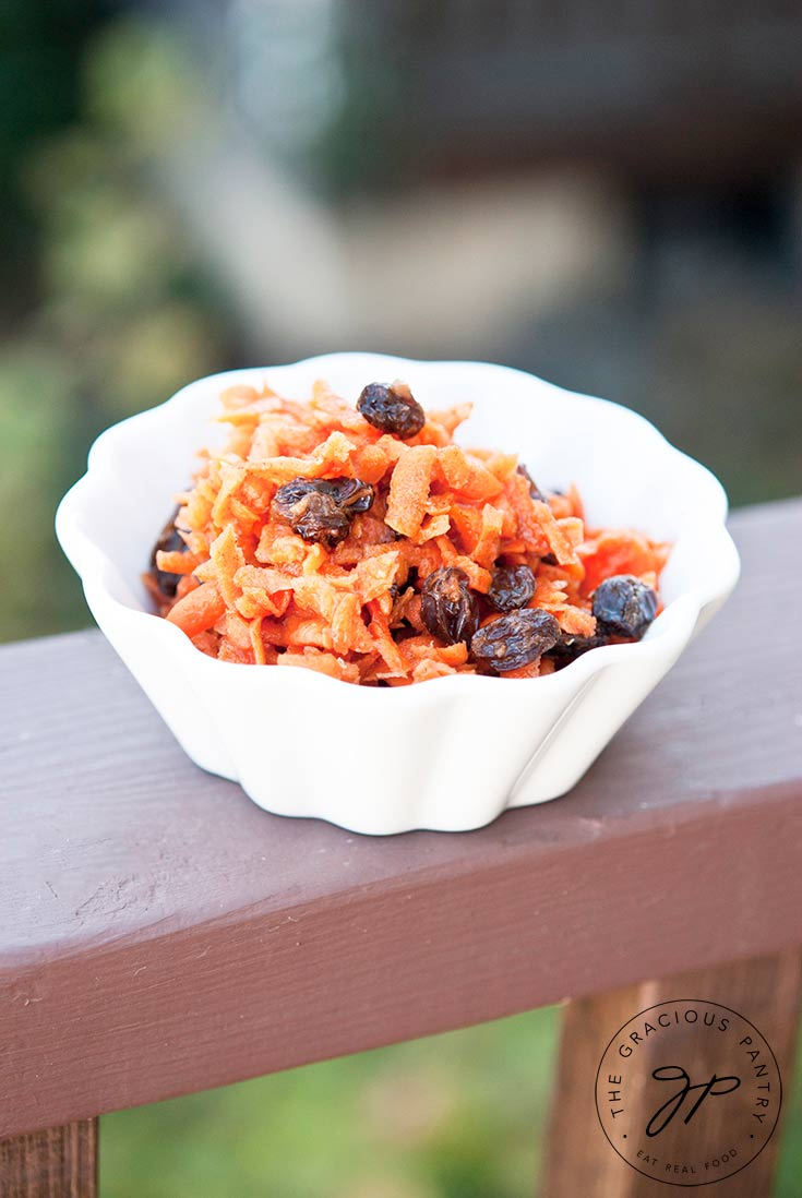 Clean Eating Sweet Carrot Raisin Salad Recipe