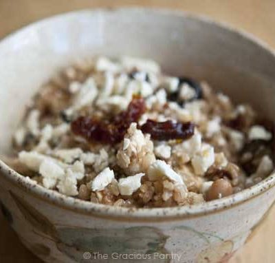 Clean Eating Tuscan White Bean and Brown Rice Bowl