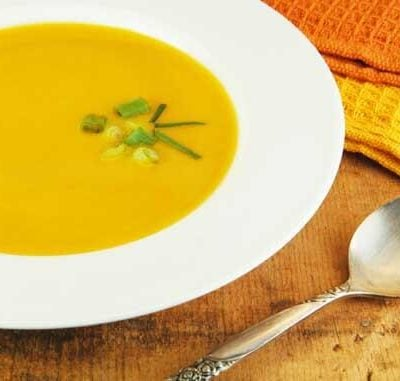 Clean Eating Spiced Butternut Squash Soup