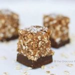 Clean Eating Fig & Oat Chocolate Bottomed Bars