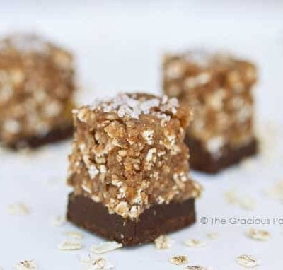 Clean Eating Chocolate Bottomed Fig & Oat Bars