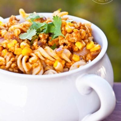Clean Eating Mexican Pumpkin Rotini Recipe