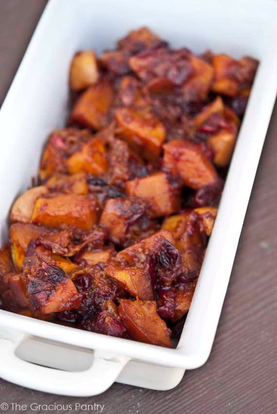 Clean Eating Holiday Butternut Cranberry Bake Recipe Ready To Serve