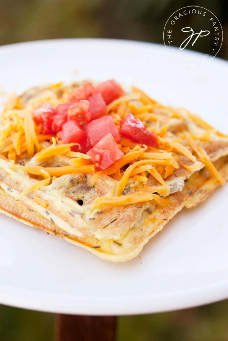Clean Eating Waffle Iron Omelets Recipe