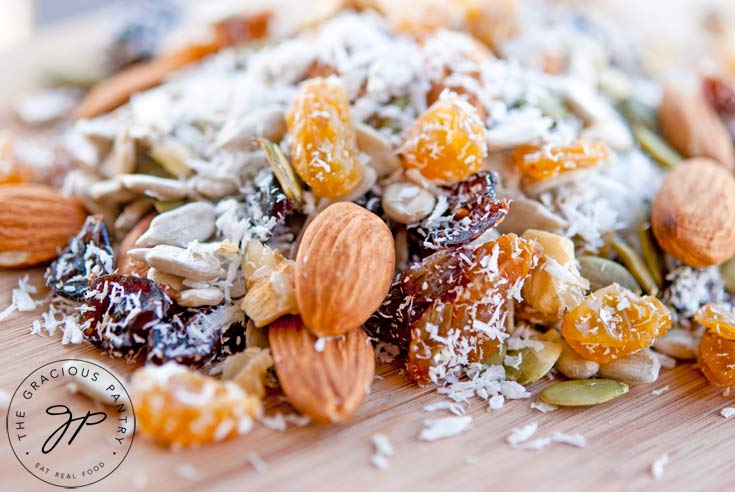Clean Eating Grain Free Trail Mix Recipe