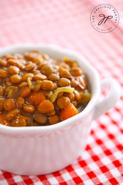Clean Eating Slow Cooker Lentil Soup Recipe