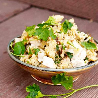 Clean Eating Chicken And Mushroom Quinoa Recipe