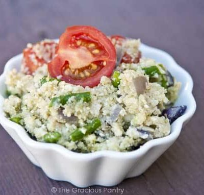 Clean Eating Pesto Cauli-CousCous