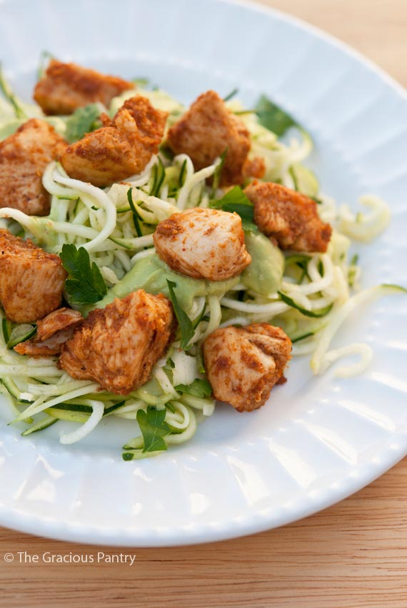 Clean Eating Taco Chicken Zucchini Pasta