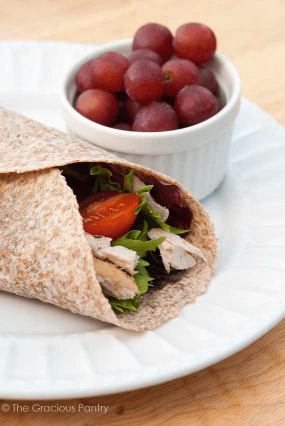 Clean Eating Turkey Wraps