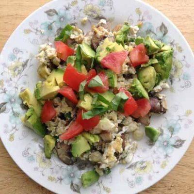 Clean Eating Egg & Vegetable Basil Scramble