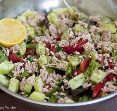 Clean Eating Fresh Greens & Tuna Salad Recipe
