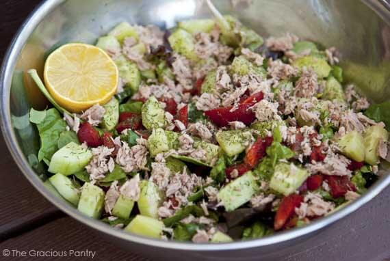 Tuna Salad On Fresh Greens Recipe The Gracious Pantry