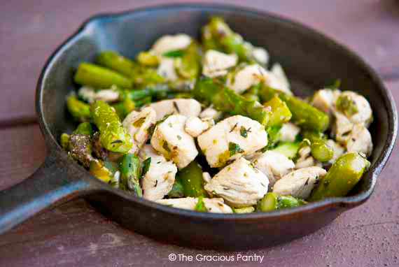 Clean Eating Chicken & Asparagus Skillet Recipe