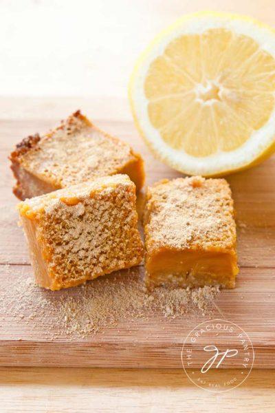 Clean Eating Lemon Bars Recipe